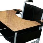 Taula universal amb velcro per a cadira de rodes